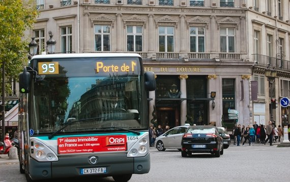 Catching the Bus in Paris