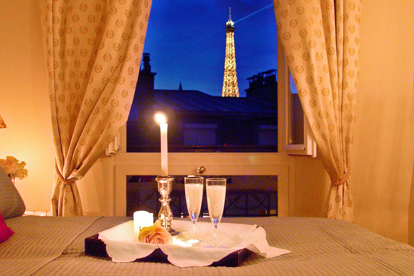 Find 1 Bedroom Left Bank Apartment with Eiffel Tower Views - Paris Perfect
