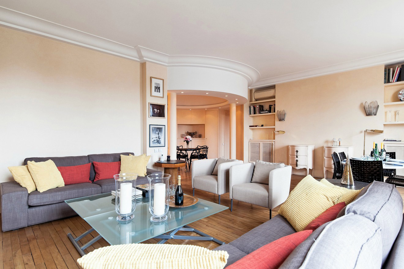 Elegant Two Bedroom Apartment Rental with Stunning Eiffel Tower View