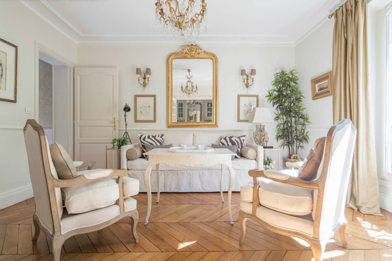 Living Room of the Beaune Two-Bedroom Apartment