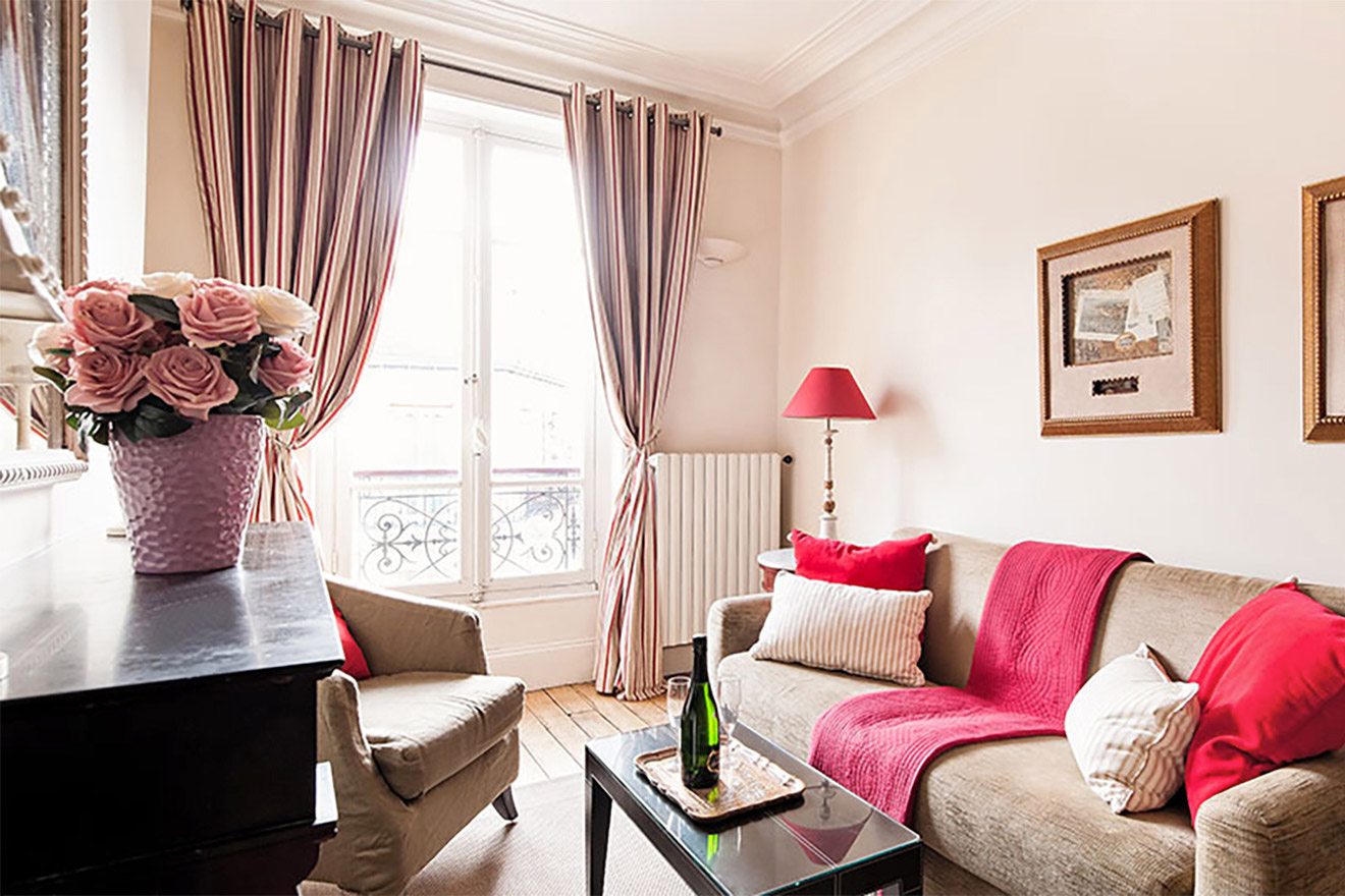 Lovely Book 2 Bedroom Paris Short Term Apartment Rental With Air Conditioning    Paris Perfect