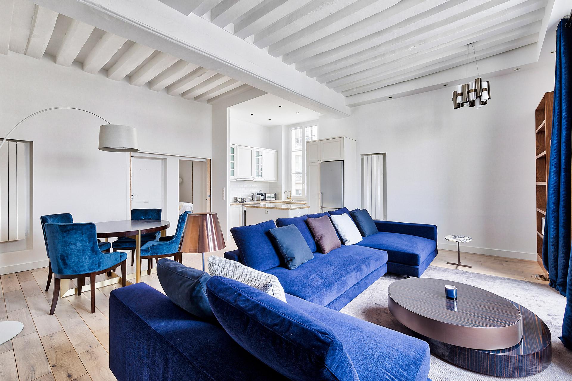 Modern 1 bedroom, 1 bathroom long term rental in the heart of Paris