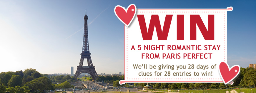 Win a 5 night romantic stay with Paris Perfect