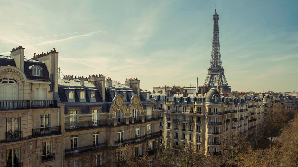 Rooftops with Eiffel Tower View