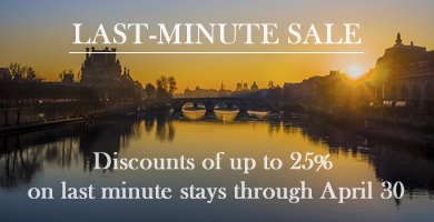 Paris Perfect Offers Discounts up to 25% and Two Free Seine Cruise Tickets on Last-Minute Spring Bookings