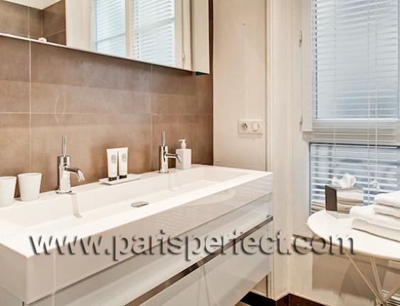Bathrooms Modern Bathroom The Saint Est?phe Features A Long Sink Bathtub  And Shower Combination .