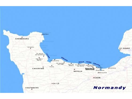 Normandy Beach France Map Images