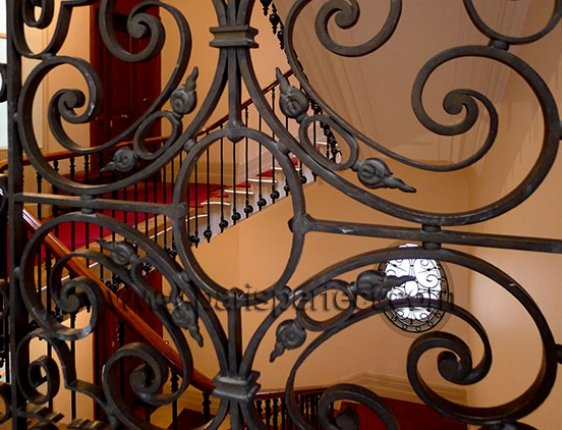 Even the building staircase is elegant and very Parisian!