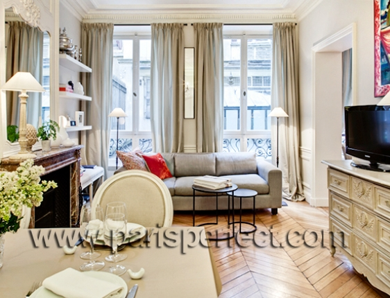 parisian apartment living room