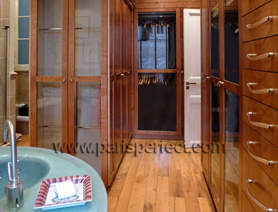 Beautiful handcrafted teak closets with glass doors