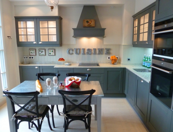 Cream Kitchen Cabinets With Black Appliances - Home ...