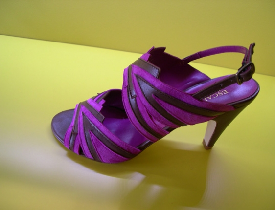 Designer purple shoes in Paris