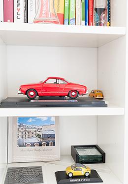 Model Cars Paris Apartment Bookshelf