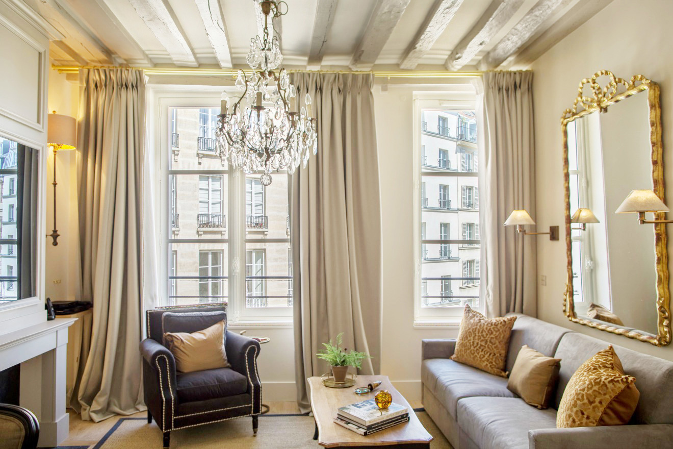 Living Room Place Dauphine Apartment Rental