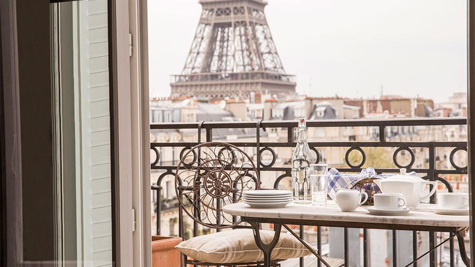 Eiffel Tower View from Balcony - Accommodation Paris France