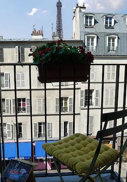 Balcony Paris Apartment Rental