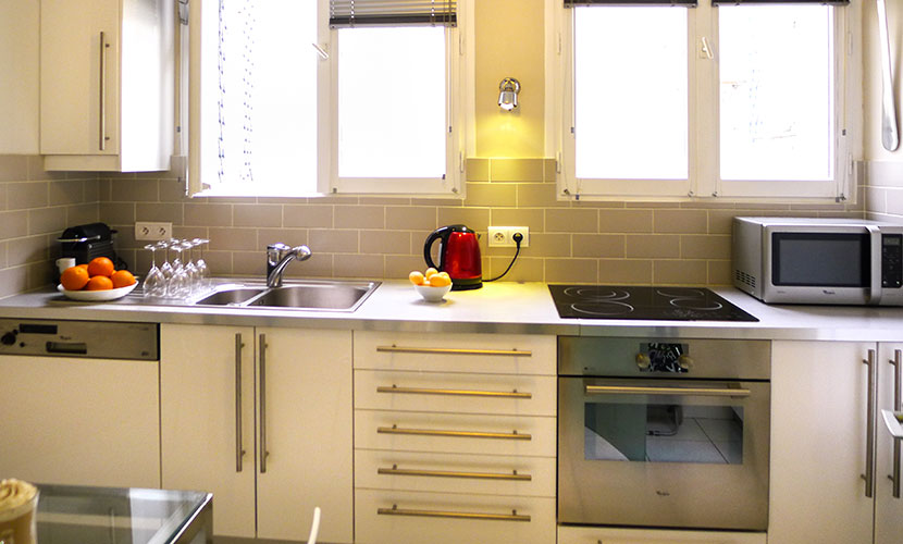 Self Contained Kitchen in Paris Apartment