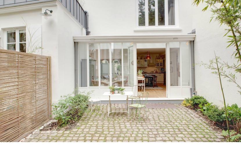 Paris Apartment Courtyard Garden