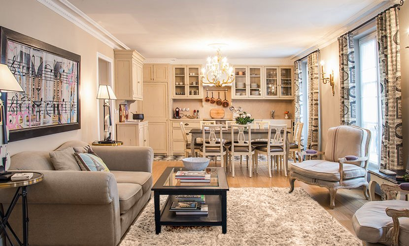 Luxury 2 bedroom paris rental marais for All paris apartments