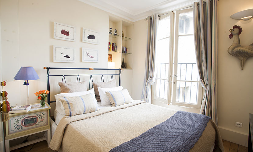 Paris Apartment Rental 2nd Bedroom with Balcony
