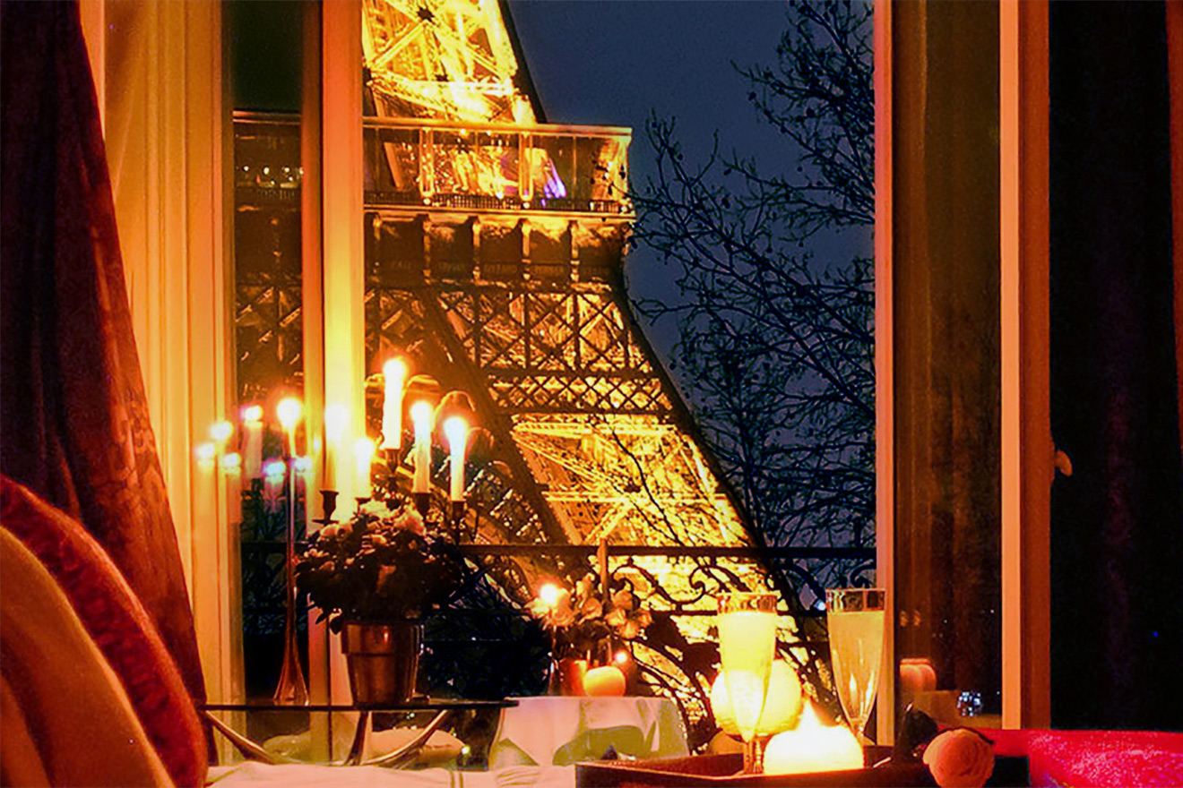 The most romantic apartment with Eiffel Tower views in Paris