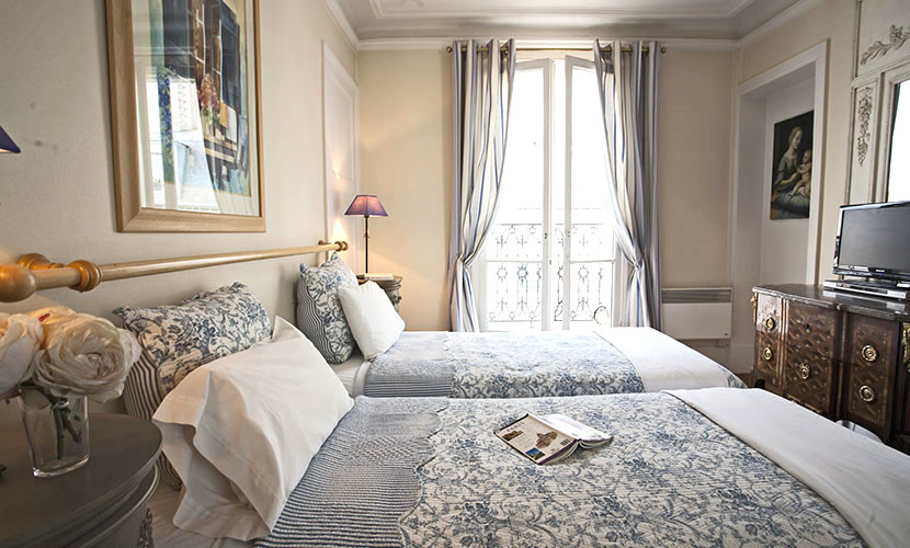 French Provencal Bedroom - Sancerre Apartment Paris
