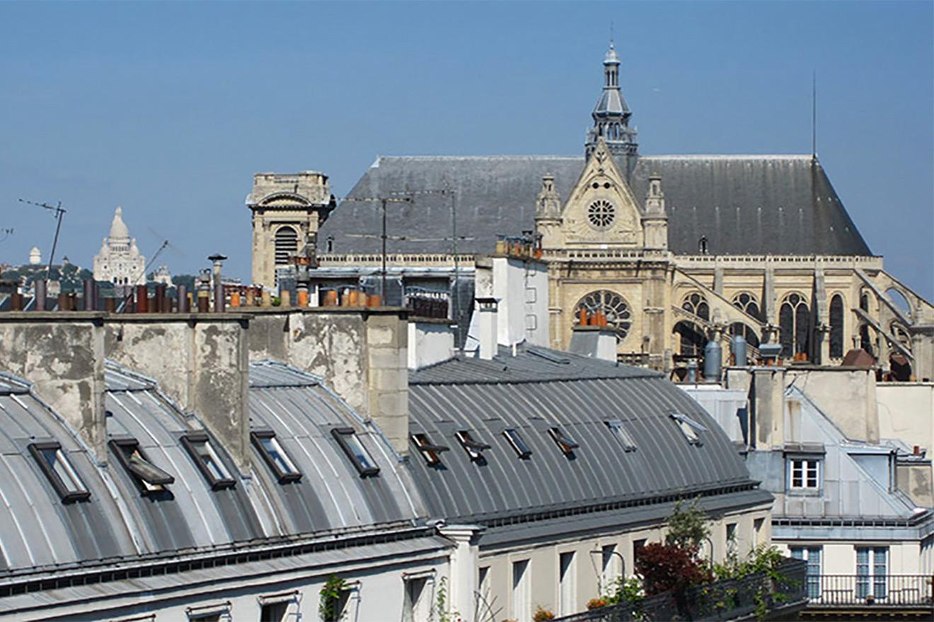 View of St Eustache in Paris