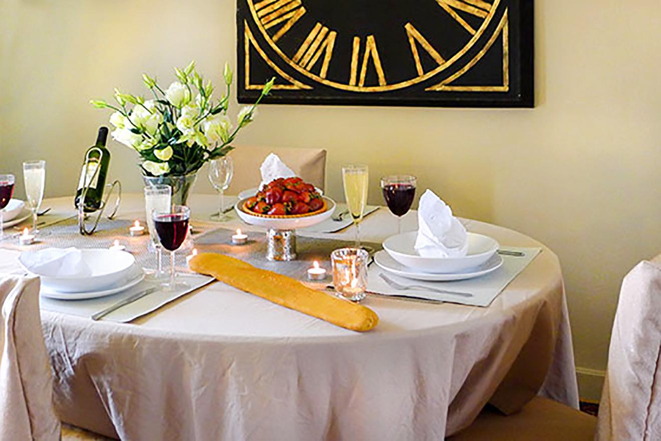 Paris Apartment Dining Area