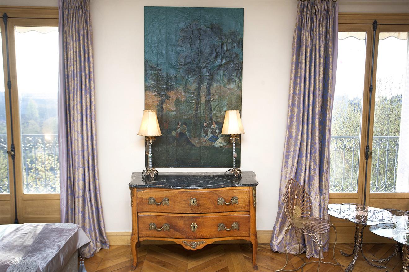 Antique Wooden Dresser Paris Apartment