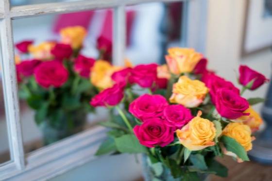 A bouquet of flowers from rue Cler in the Saumur vacation rental offered by Paris Perfect