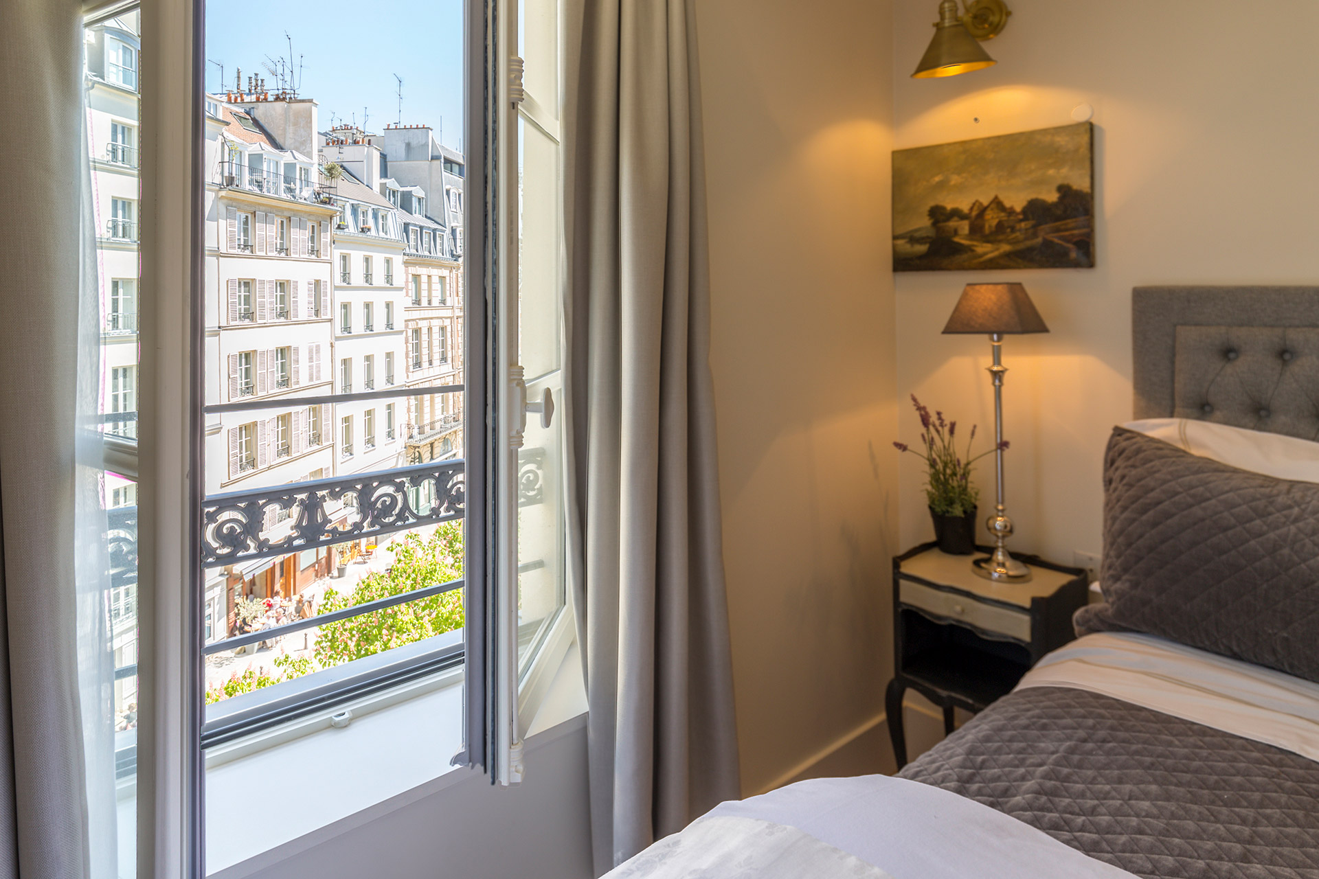 Stunning view over Place Dauphine from the Loupiac vacation rental offered by Paris Perfect