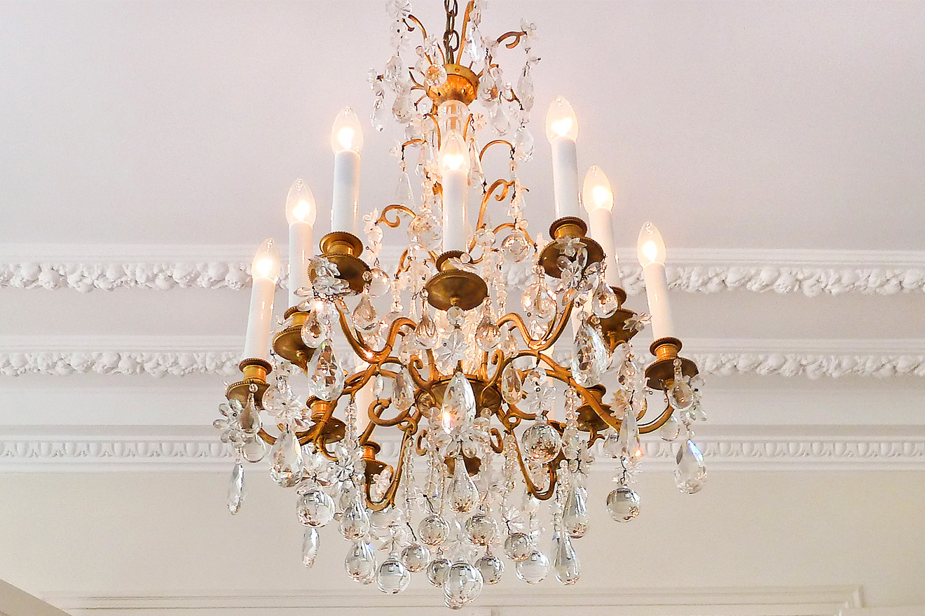 Crystal Chandelier Paris Apartment