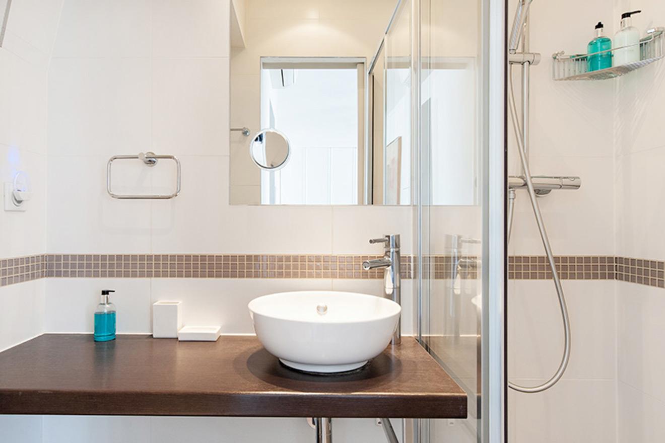 Remodeled Paris Apartment Bathroom