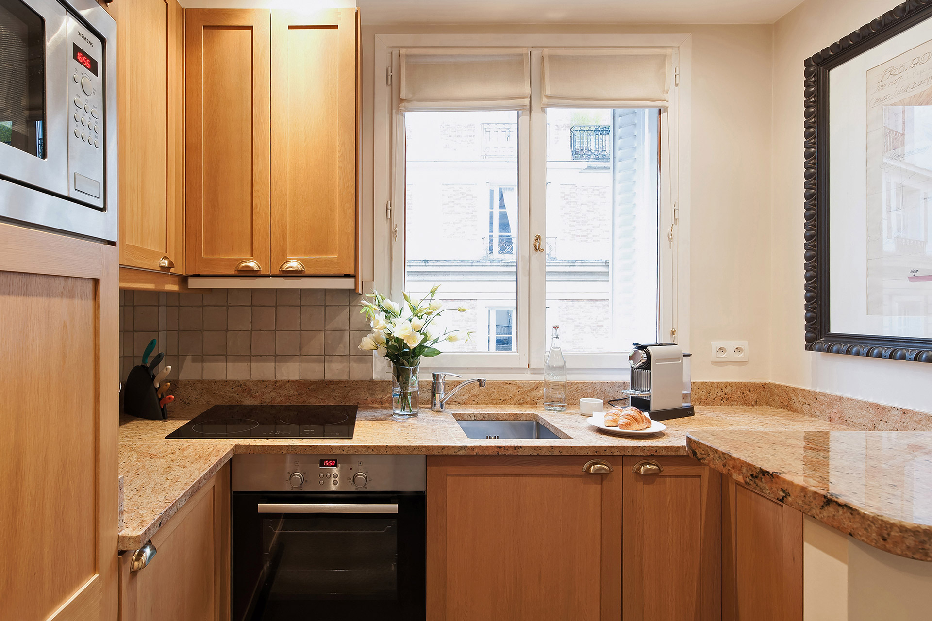 Kitchen in our Lalande Vacation Rental in Paris