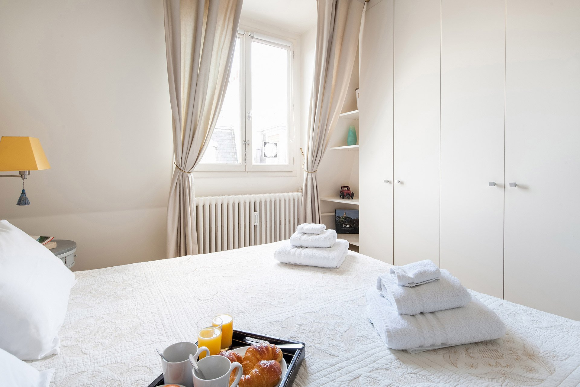 Plenty of closet space in the Romanée vacation rental offered by Paris Perfect