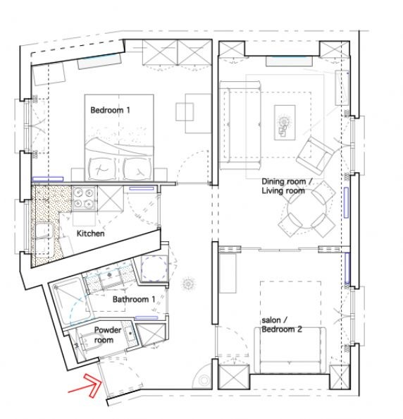 Quincy Paris Holiday Rental Floorplan