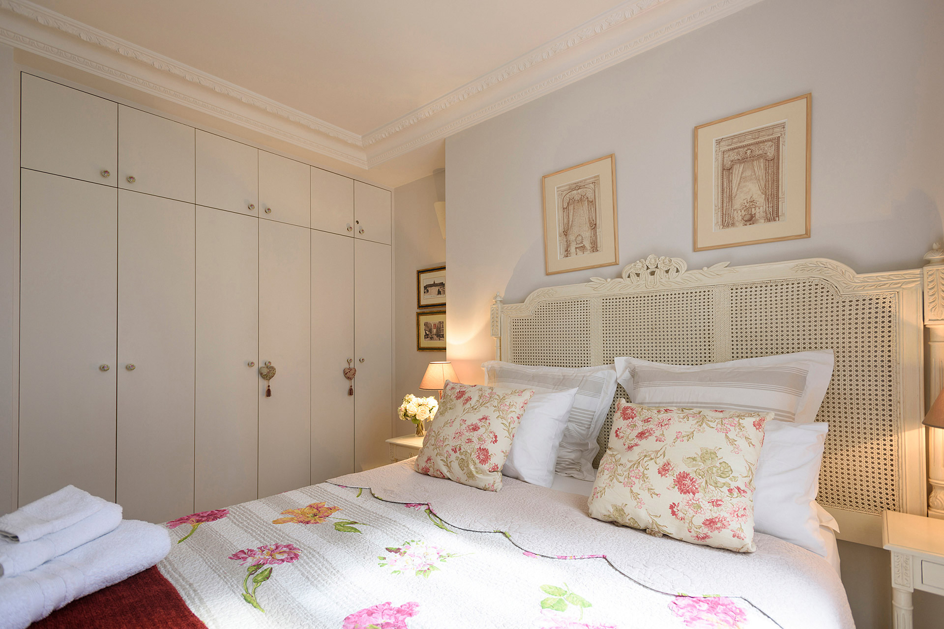 Large closet provide plenty of storage in the Clairette vacation rental offered by Paris Perfect