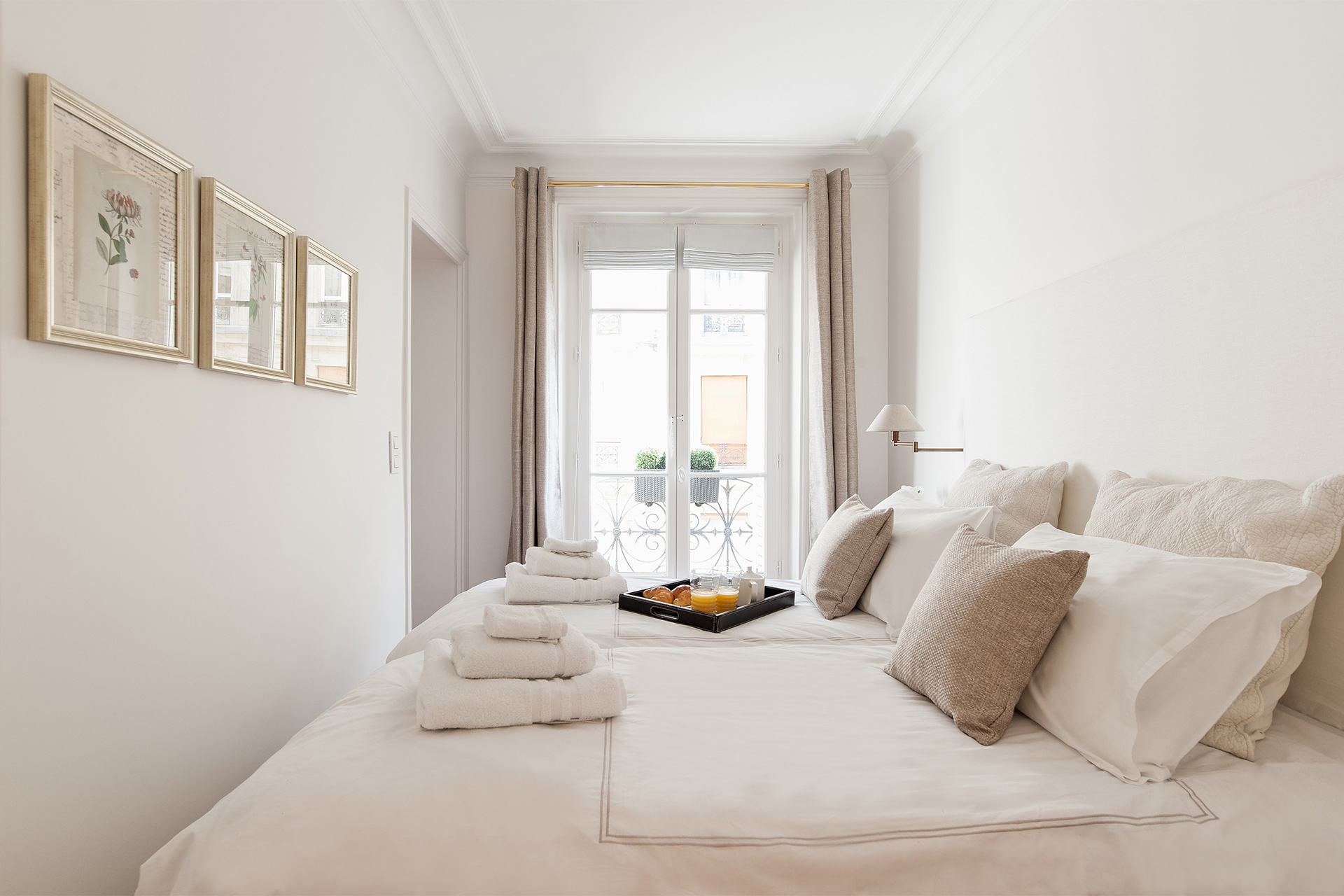 French windows in the Montagny vacation rental offered by Paris Perfect
