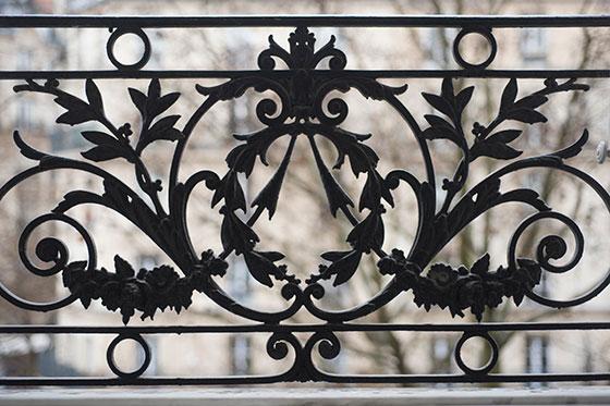 Beautiful iron grillwork in Paris apartment window