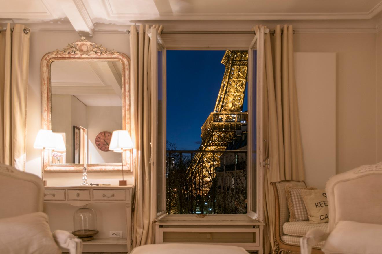 Paris Apartment Rental View of Eiffel Tower