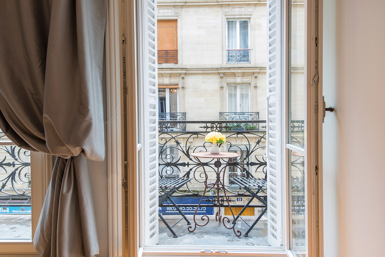 Double French doors in the Monthelie vacation rental offered by Paris Perfect