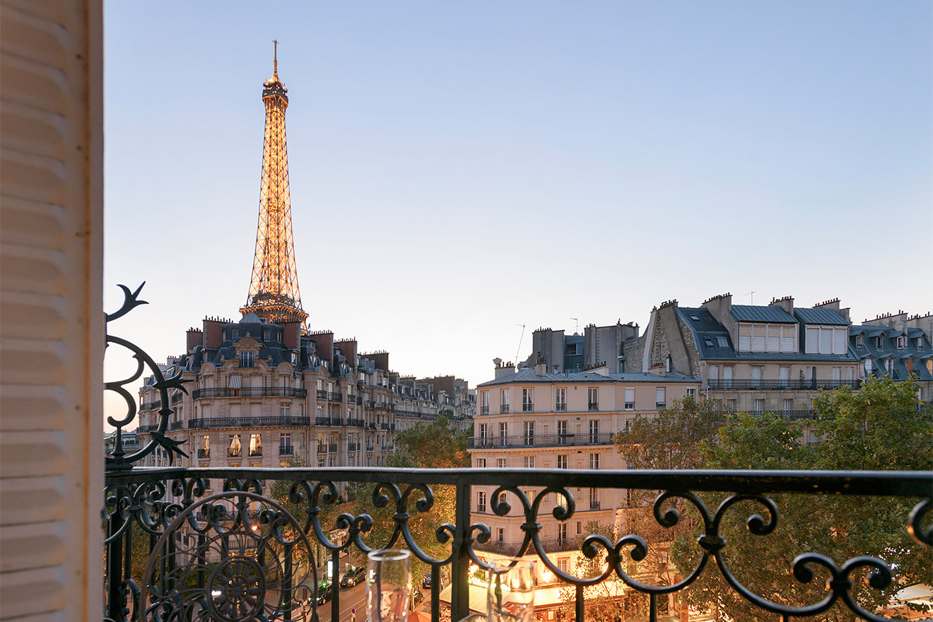 Watch the Eiffel Tower sparkle at night from your balcony in the Bordeaux vacation rental