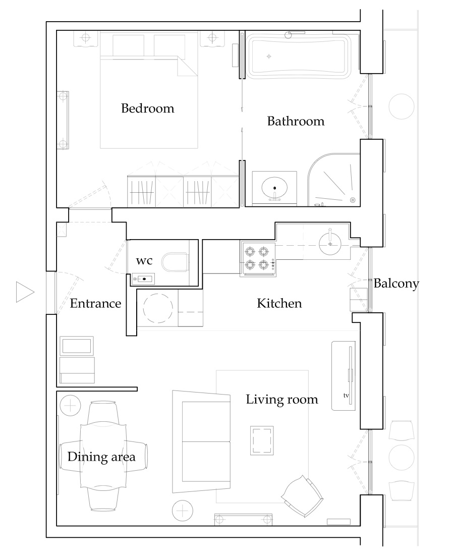 Floorplan Chambertin Rental Paris