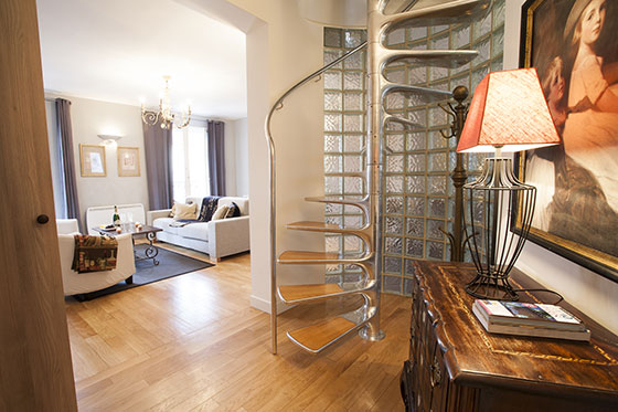 Stunning staircase in the Bordeaux vacation rental by Paris Perfect