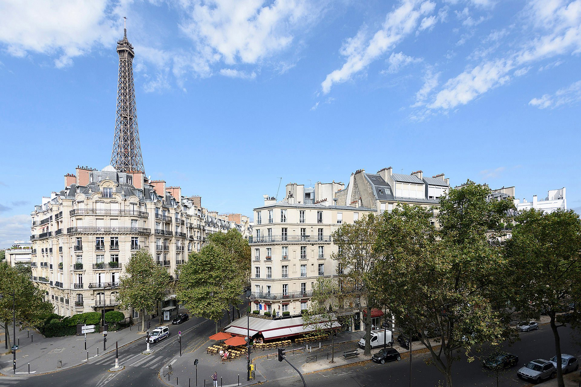 Stunning view of surrounding buildings and Eiffel Tower from the Clairette vacation rental