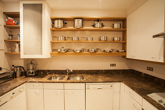 Fully Equipped Luxury Apartment Kitchen