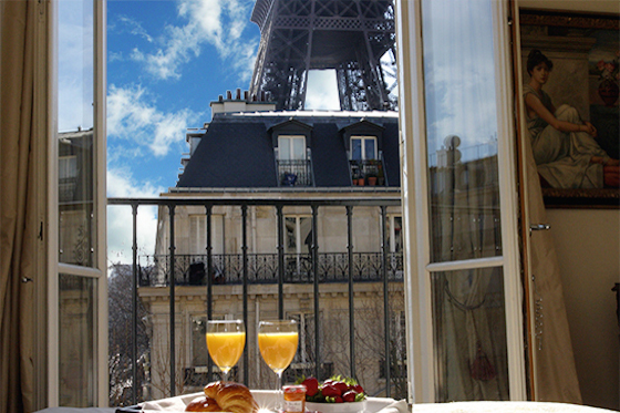 Breakfast Eiffel Tower View