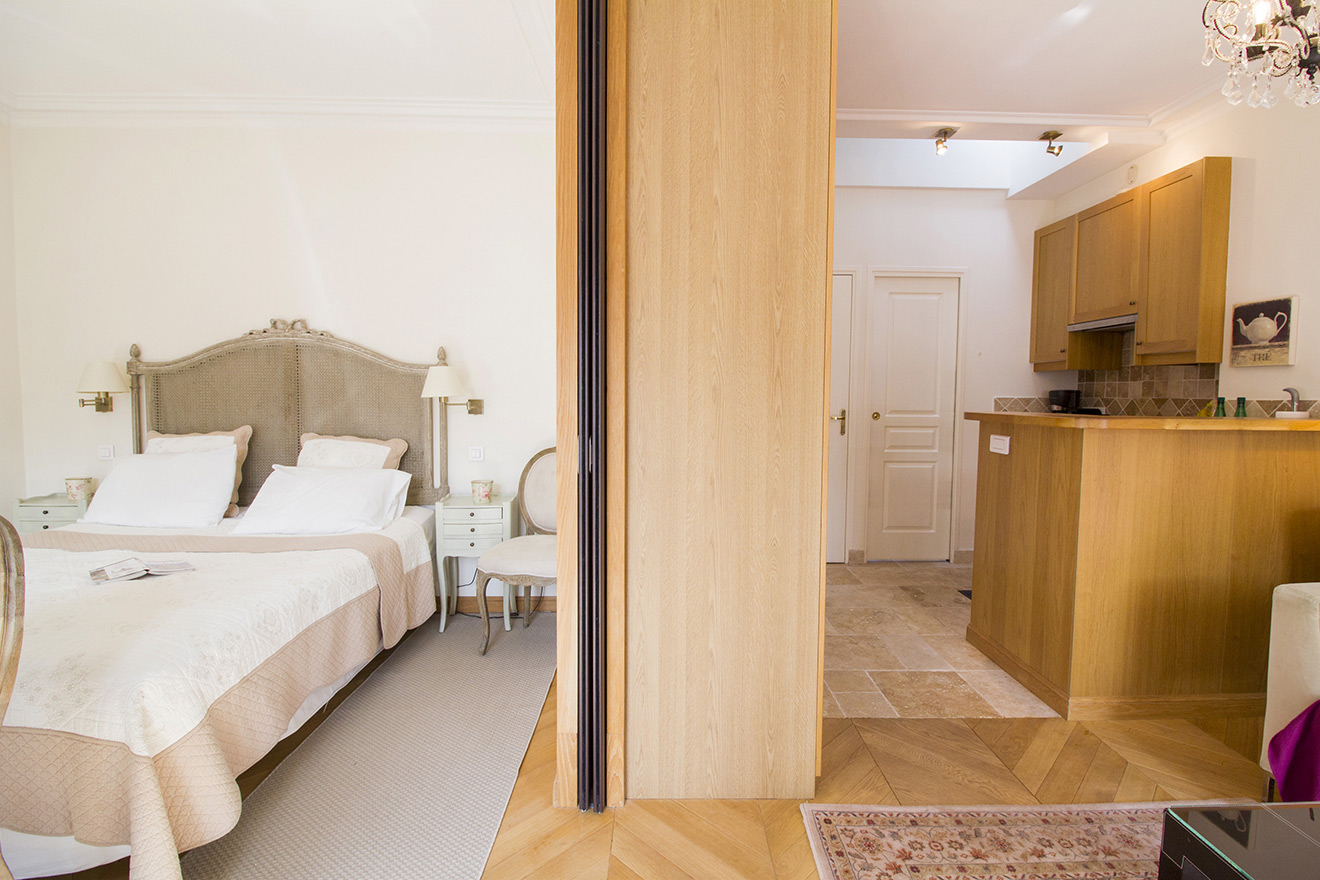 Sliding Door In Our Paris Studio Apartment
