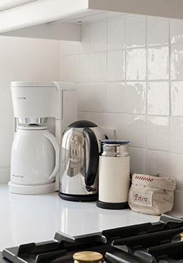 Coffee and Nespresso machines in the Montagny vacation rental offered by Paris Perfect