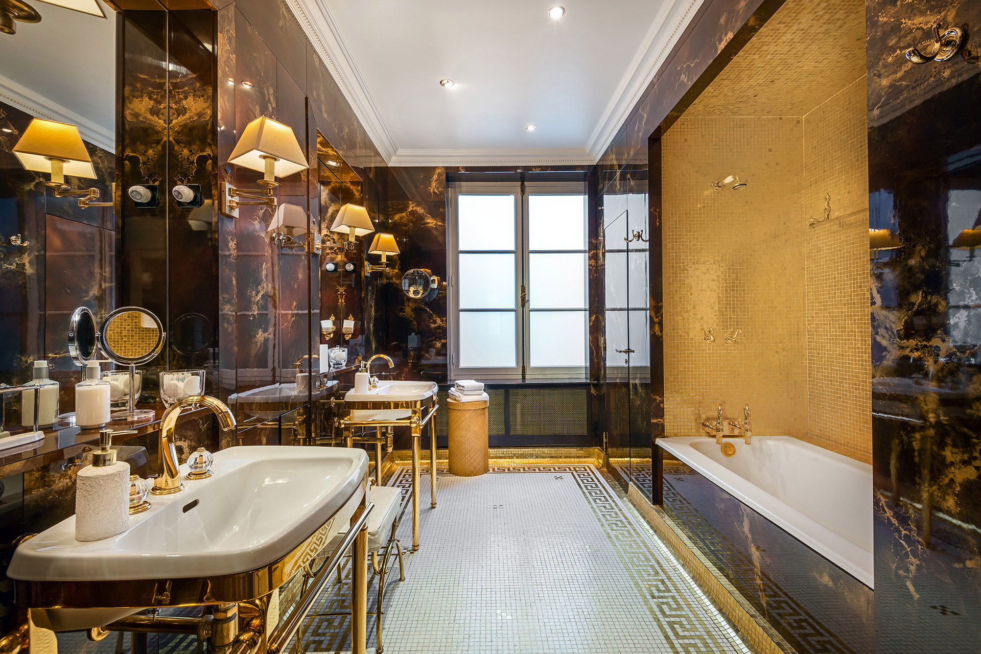 A bathroom for a King in the Chopine vacation rental offered by Paris Perfect